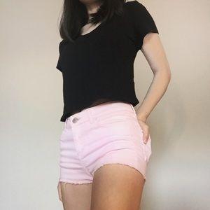 H&M Pink Cut-off Shorts